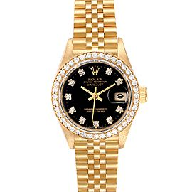 Rolex President Datejust Yellow Gold Diamond Ladies Watch 69138 Box Papers