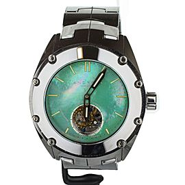 Android-USA Virtuoso Tritium T-100 Tungsten Tourbillon Green Dial 48mm