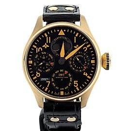 IWC BIG PILOT PERPETUAL BUCHERER EDITION ROSE GOLD BLACK DIAL 46MM IW502635