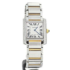 Cartier Tank Francaise Stainless Steel Yellow Gold Quartz. Ref: W2TA0003/2301