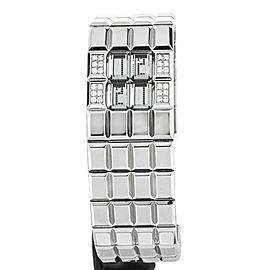 CHANEL CHOCOLAT DIAMOND QUARTZ STAINLES STEEL BRACELET REF:51889
