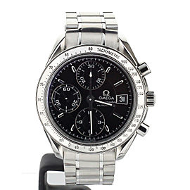 OMEGA SPEEDMASTER DATE ON BRACELET BLACK DIAL 39MM REF 35135000