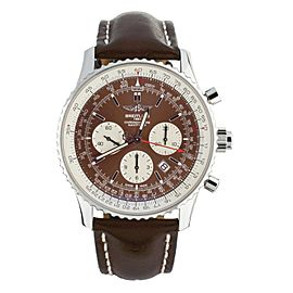 BREITLING NAVITIMER 1 RATTRAPANTE BROWN DIAL CALF STRAP 45MM AB0310