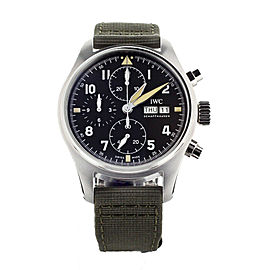 IWC Pilot's Watch Chronograph Spitfire Stainless Steel 41mm IW387901 Full Set