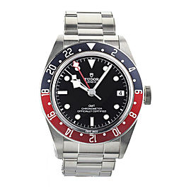 Tudor 2018 Black Bay GMT Pepsi Stainless Steel 41mm Ref:79830RB Complete Set
