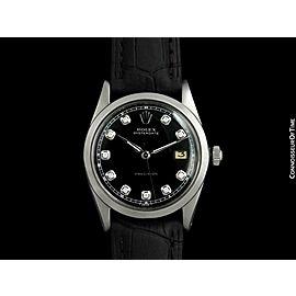 1961 ROLEX OYSTERDATE Mens Stainless Steel & Diamond - $6,995, Mint w/ Warranty