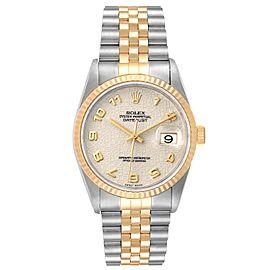 Rolex Datejust Steel 18K Yellow Gold Mens Watch 16233
