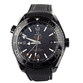 OMEGA PLANET OCEAN DEEP BLACK GMT CERAMIC 45mm 21563462201001 FULL SET