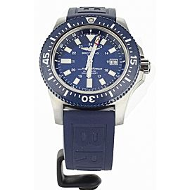 Breitling Superocean 44 Special Blue Dial Blue Rubber Strap Y17393 Full Set