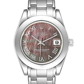 Rolex Pearlmaster 34mm Midsize White Gold MOP Ladies Watch 81319