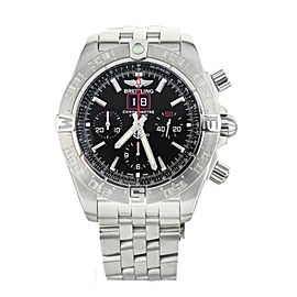 Breitling Blackbird Chronograph Big Date Stainless Steel Black Dial 44mm a44360