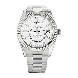 Rolex Sky-Dweller Annual Calendar GMT Stainless Steel White Dial 42mm 326934