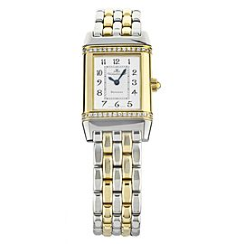 JAEGER LECOULTRE REVERSO FLORALE YELLOW GOLD STAINLESS STEEL 21X33MM 265.5.08
