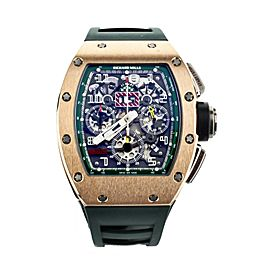 Richard Mille RM011 Le Mans Rose Gold Titanium Green Accents 50mmx40mm RM011-FM