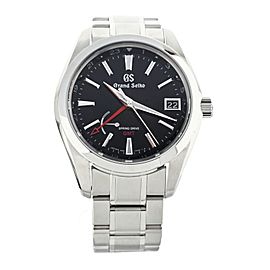 GRAND SEIKO SPRING DRIVE GMT STAINLESS STEEL41MM SBGE211 FULL SET