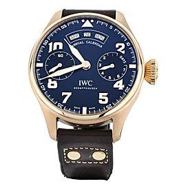 IWC BIG PILOT LE PETITE PRINCE ANNUAL CALENDAR 46MM ROSE GOLD FULL SET IW502701