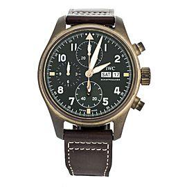 IWC Pilot's Spitfire Chronograph Bronze Case Green Dial 41mm IW387902 Full Set