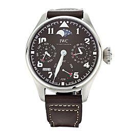 IWC Big Pilot Perpetual Calendar St. Exupery Brown Steel 46mm IW503801 Full Set