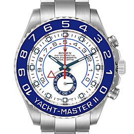 Rolex Yachtmaster II 44 Blue Cerachrom Bezel Mens Watch 116680 Box