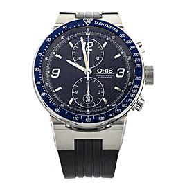 Oris Chronograph Williams F1 Stainless steel Blue Bezel Black Dial 45MM 7563