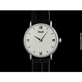 PIAGET ALTIPLANO Mens Unisex 18K White Gold Watch - $18,100, Mint with Warranty