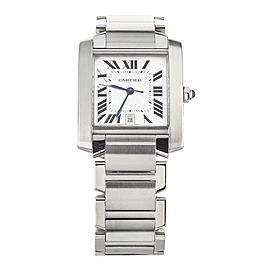 Cartier Tank Francaise Large Automatic Silver Dial Stainless Steel 32x28mm 2302