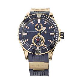 Ulysse Nardin Maxi Marine Diver Blue Wave Dial Rose Gold 44mm 266-10 Full Set