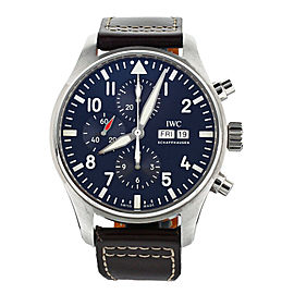 IWC Pilot Chronograph Blue Dial Le Petit Prince Stainless 43mm IW377714 Full Set