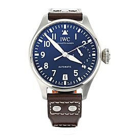 IWC Big Pilots Watch Le Petit Prince Stainless Steel Blue 46mm IW500916 Full Set