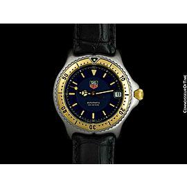 TAG HEUER SEL Automatic Mens Midsize SS Steel & 18K Gold Watch - Mint - Warranty