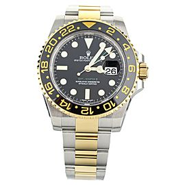 Rolex GMT Master II Stainless Steel and Yellow Gold 40mm 116713LN Full Set