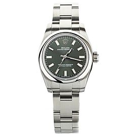 Rolex Oyster Perpetual 26 Green Dial Stainless Steel 26mm 176200 Full Set