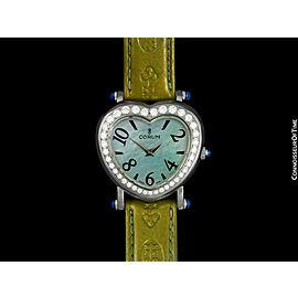 CORUM HEARTBEAT Ladies SS Steel & Diamond Watch - $6,350, Mint with Warranty