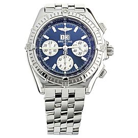 BREITLING AVENGER CHRONOGRAPH BIG DATE STAINLESS STEEL BLUE DIAL 44MM A44355