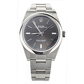 ROLEX OYSTER PERPETUAL RHODIUM DIAL STAINLESS STEEL 39MM 113400 FULL SET