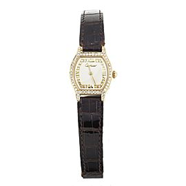 Cartier Tortue Yellow gold and diamonds on Alligator 20x20mm Full Set