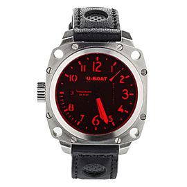 U-Boat Thousands of Feet Stainless Steel 43 AB R 50m Red Sapphire Crystal Calf