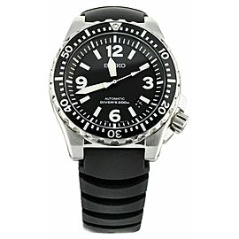 Seiko Spork Diver Black Dial Stainless Steel Rubber Strap Automatic 44mm SRP043