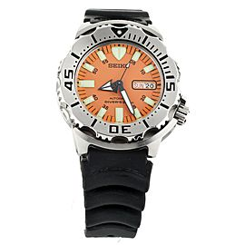 Seiko Orange Monster Stainless Steel Bracelet and Rubber 42mm SKX781 Full Set