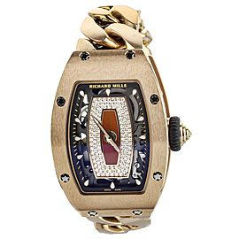 Richard Mille RM07 Rose Gold on Bracelet Diamond Dial Automatic RM07-01 Full Set