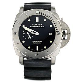Panerai Luminor 1950 Submersible Titanium Black Dial Rubber 47mm PAM305 Full Set