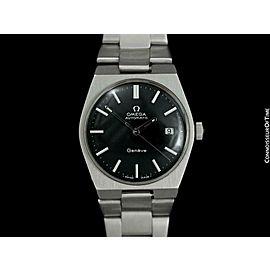 1971 OMEGA GENEVE Vintage Mens Stainless Steel Bracelet Watch - Mint w/ Warranty