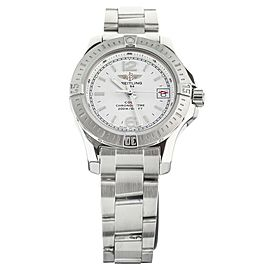 BREITLING COLT LADY QUARTZ STAINLESS STEEL SILVER DIAL 33MM A77388 FULL SET