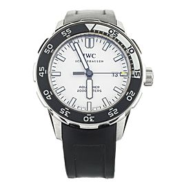 IWC AQUATIMER WHITE DIAL STAINLESS STEEL ON RUBBER STRAP 44MM IW256806