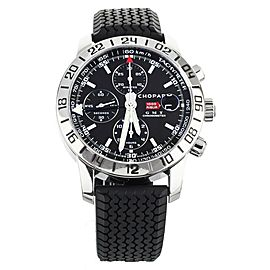 CHOPARD MILLE MIGLIA GMT CHRONOGRAPH STAINLESS STEEL BLACK DIAL RUBBER 42MM 8992