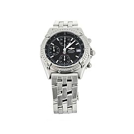 Breitling Chronomat Chronograph Stainless Steel Black Dial 39mm A13050