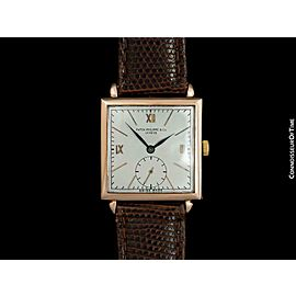 1940 PATEK PHILIPPE Vintage Mens 18K Rose Gold Ref 1432 Watch, Minty with Papers