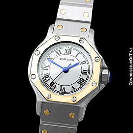Cartier Santos Octagon Ladies Watch SS Steel & 18K Gold - Mint with Warranty