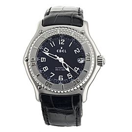 Ebel Discovery Stainless Steel Black Dial Automatic Strap and Bracelet E9080341