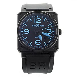 Bell & Ross Br03-92 Black Dial Blue Numbers PVD Stainless Steel 42mm Full Set
